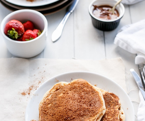Cinnamon, nutella, and pancakes image