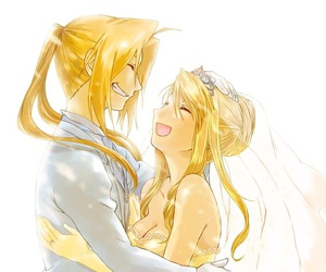 edward elric, winry rockbell, and anime image