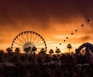 coachella, ferris wheel, and festival image