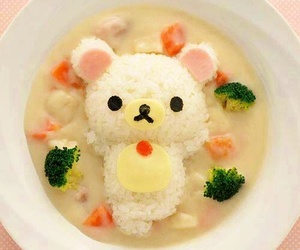 food, kawaii, and rilakkuma image