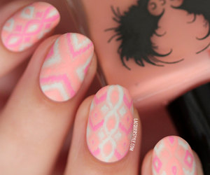 manicure, nails, and pastel image
