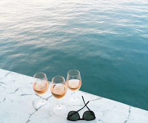 summer, sea, and wine image