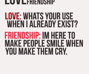 quote, love, and friendship image