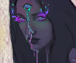 art, psychedelic, and purple image