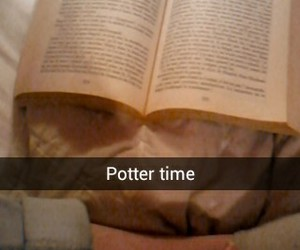 bedroom, book, and harry potter image