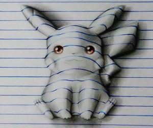 pikachu, drawing, and pokemon image