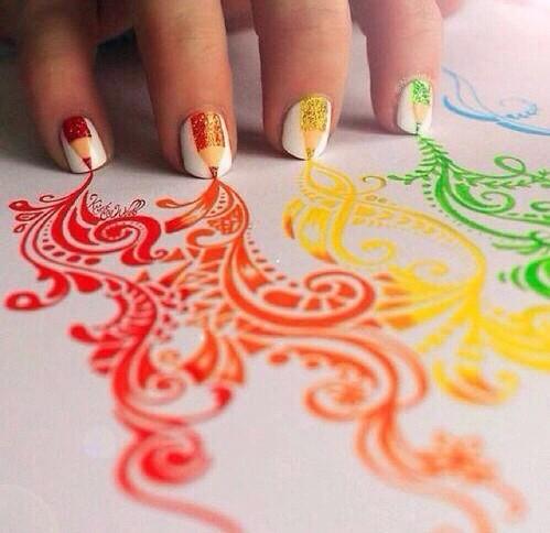 art, beautiful, and nailsart image