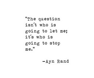 quote, ayn rand, and stop image