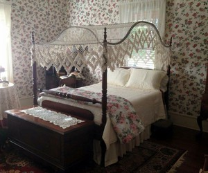 bed, old, and room image