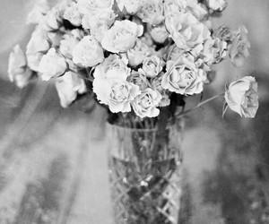 black and white, sad, and fashion image