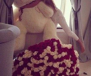 girl, roses, and cute image