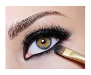 black, eye shadow, and lashes image