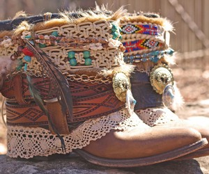 boho, boots, and shoes image