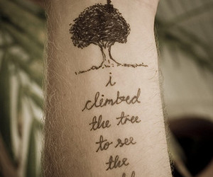 tattoo, tree, and world image
