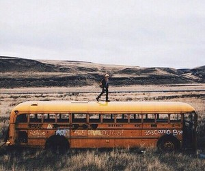 bus, nature, and travel image