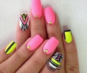 black, nail polish, and pink image