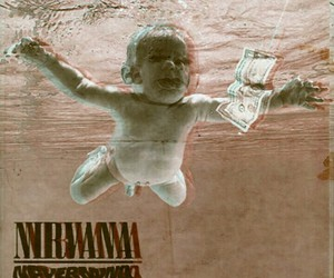 baby, grunge, and Nevermind image