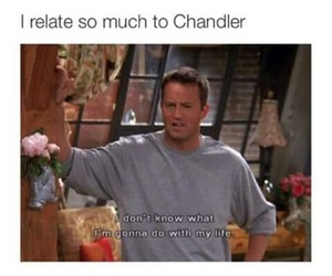 chandler, life, and unpredictable image