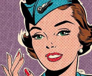pop art, comic, and vintage image