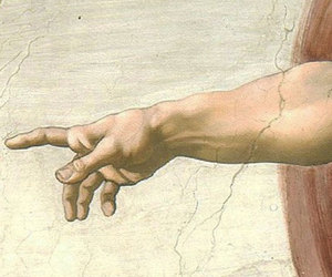 creation of adam, god, and hand image