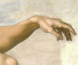 adam, creation of adam, and hand image