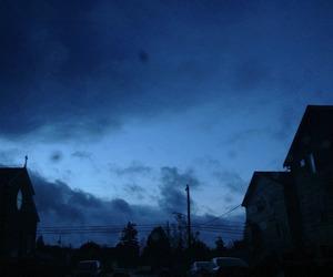blue, sky, and grunge image