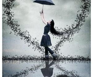 heart, umbrella, and bird image