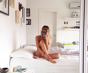 room, girl, and photography image