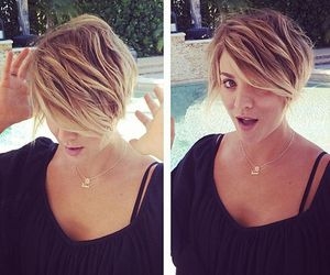 kaley cuoco, penny, and hair image