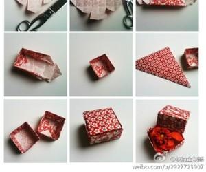 box, origami, and diy image