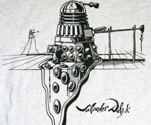 dali, doctor who, and Dalek image