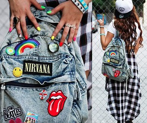 nirvana, bag, and style image