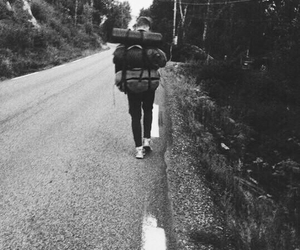 b&w, camping, and inspo image