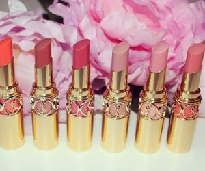lipstick, makeup, and YSL image