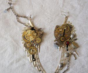 art, wings, and earrings image
