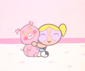 bubbles, pink, and powerpuff girls image