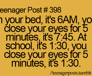 teenager post, school, and funny image