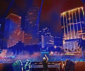city, dj, and music image
