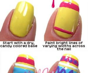 colorful, diy, and nail art image