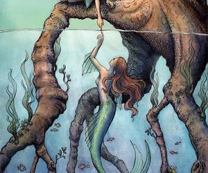 mermaid and drawing image