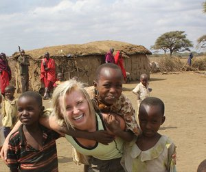 africa, children, and volunteer image