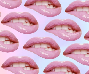 lips, pattern, and pink image