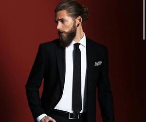 man, beard, and handsome image