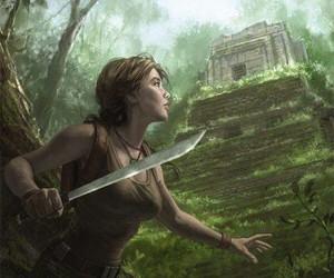 lara croft, tomb raider, and dark horse image
