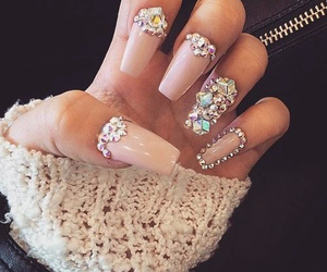 diamond, girl, and nails image