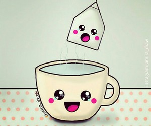 cup, funny, and teabag image