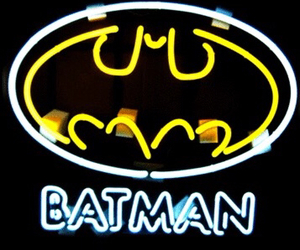 batman, light, and neon image