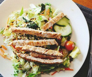 salad, food, and Chicken image