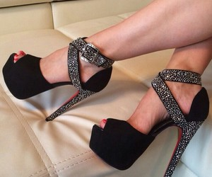 black, diamonds, and talons image