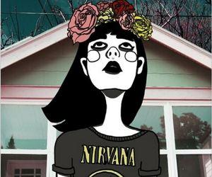 nirvana, grunge, and drawing image